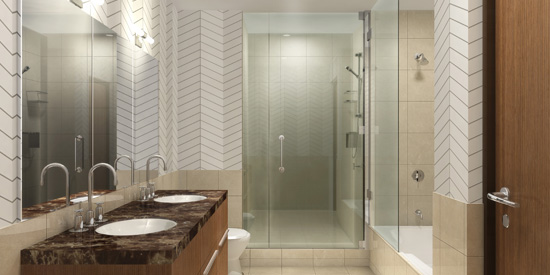 Residential Bathroom Glass Installation